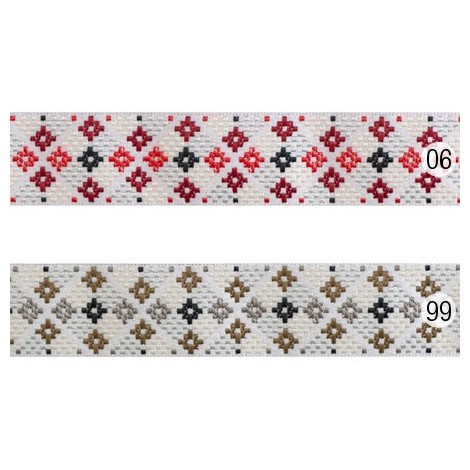 Aztec pattern jacquard ribbon - 20mm