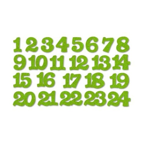 Advent numbers - felt, light green