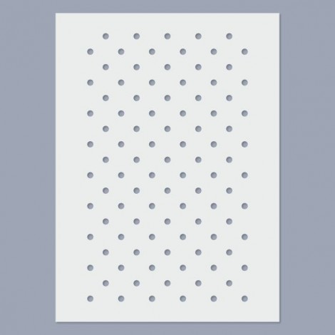Stencil - Kis pöttyös - 4mm