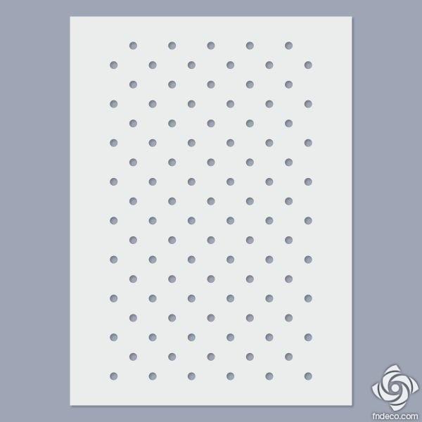 Stencil - Small dots - 4mm