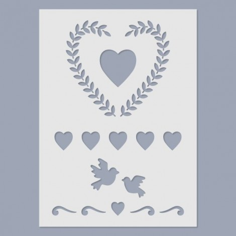 Stencil - Heart wreath