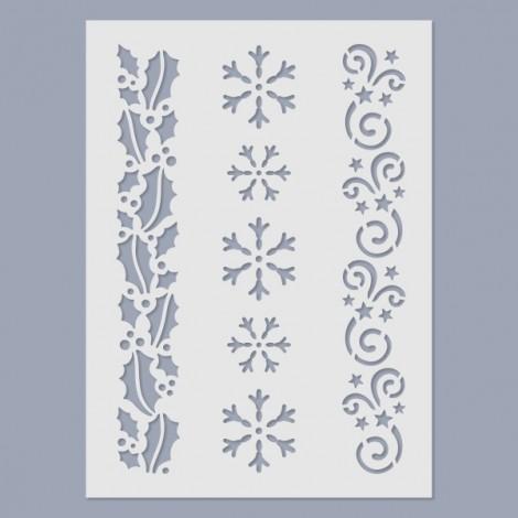 Stencil - Christmas pattern