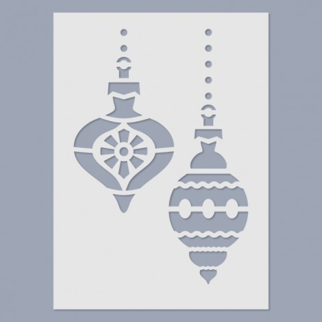 Stencil - Christmas Tree Ornaments