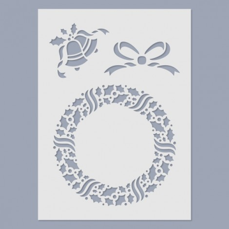 Stencil - Christmas wreath