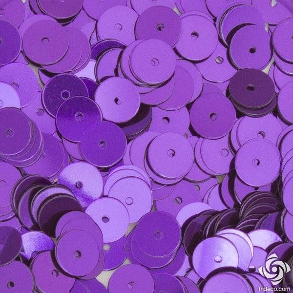 Flat round sequins - Purple