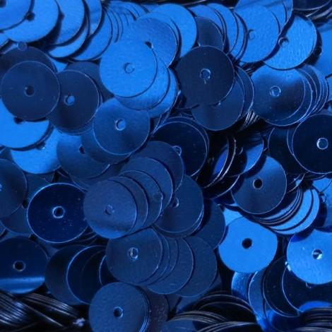 Flat round sequins - Blue