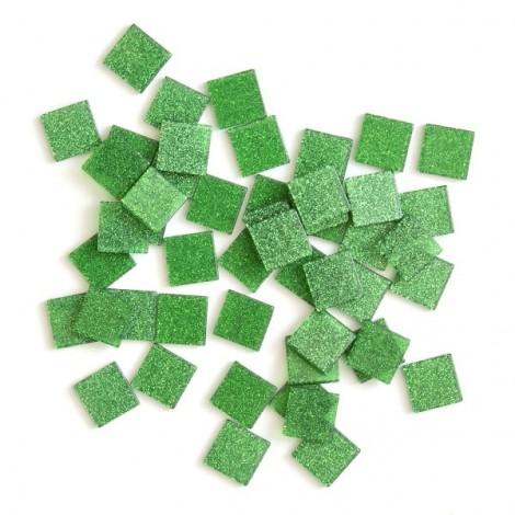 Acrylic glitter mosaic, green