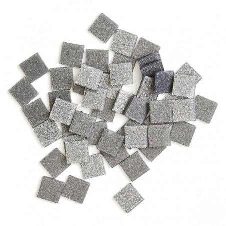Acrylic glitter mosaic, grey