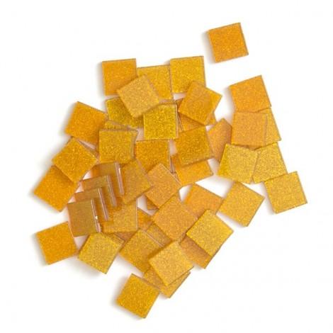 Acrylic glitter mosaic, orange