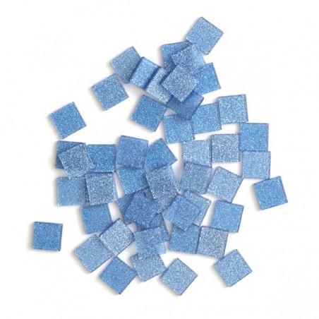 Acrylic glitter mosaic, blue