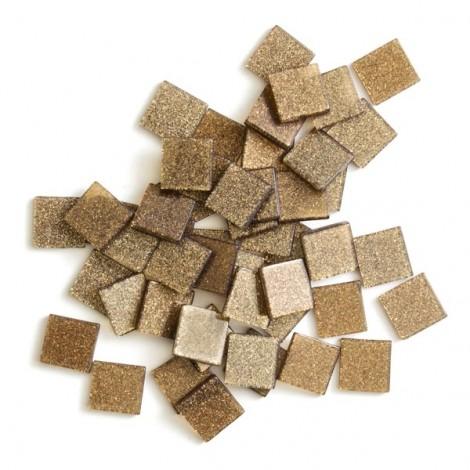 Acrylic glitter mosaic, brown