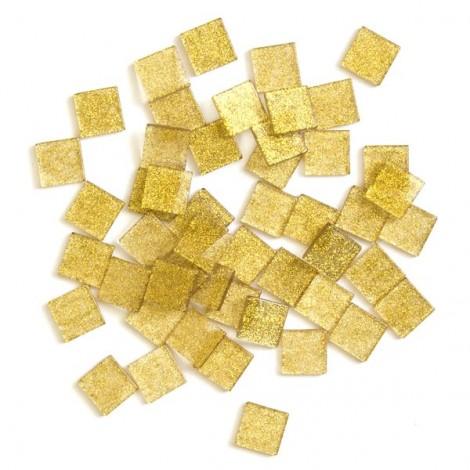 Acrylic glitter mosaic, gold