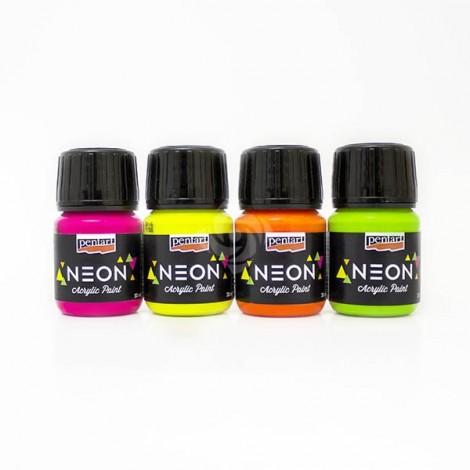 Neon színű akrilfesték, 30 ml