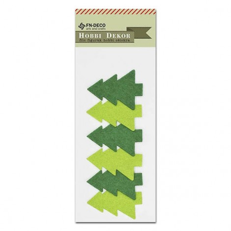 Felt pine tree – green-light green