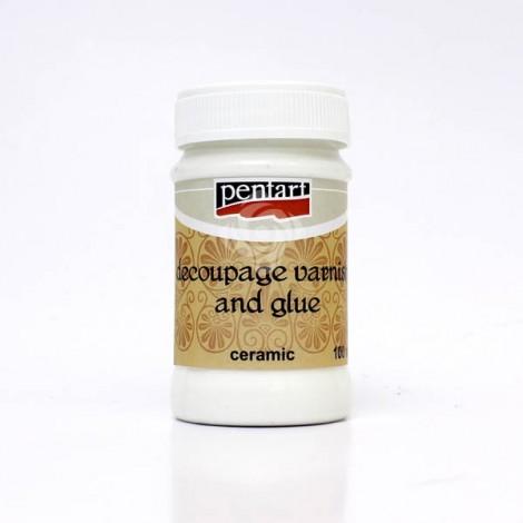 Decoupage Glue and Varnish for ceramic, 100ml