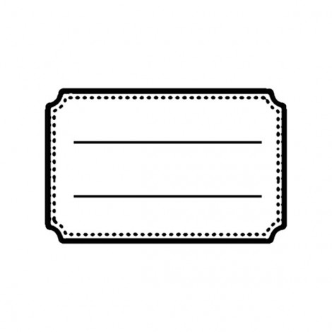 Clear Stamp - Label 1