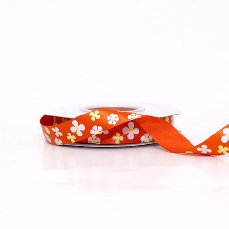 Satin Ribbon, flowers, orange