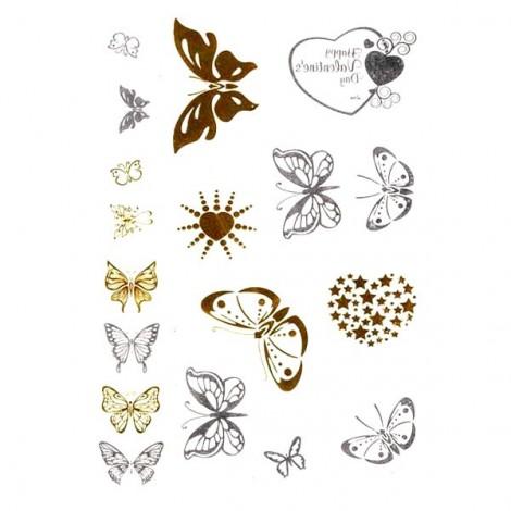 Metál tetoválás - pillangók
