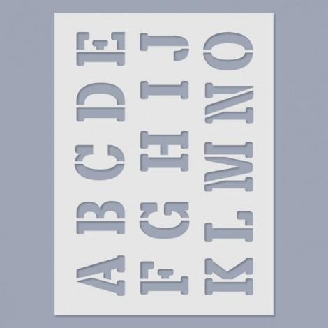 Stencil - ABC nagybetűk