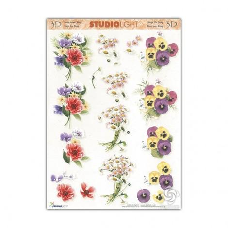 3D Decoupage sheet - Flowers 2