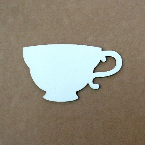 Chipboard - teacup