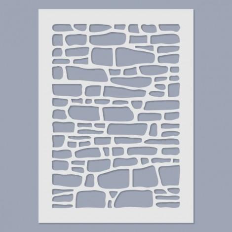 Stencil - Stone wall