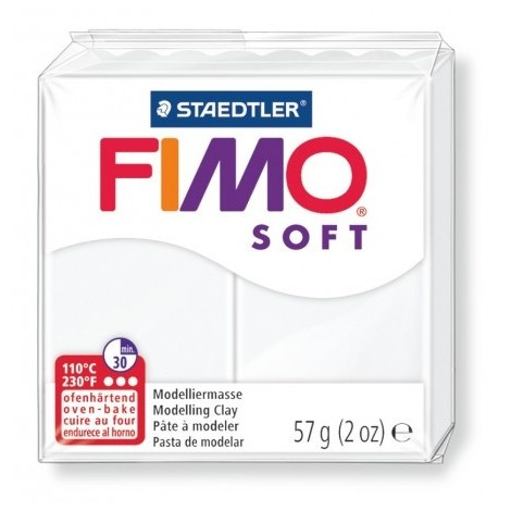 FIMO SOFT - oven-safe clay, 57g - white