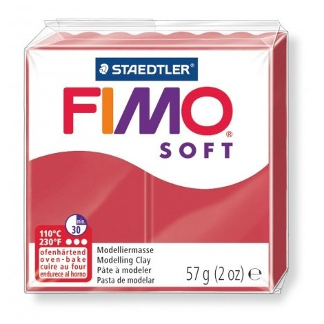 FIMO SOFT - oven-safe clay, 57g - cherry red