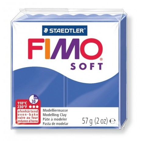 FIMO SOFT - oven-safe clay, 57g - brilliant blue