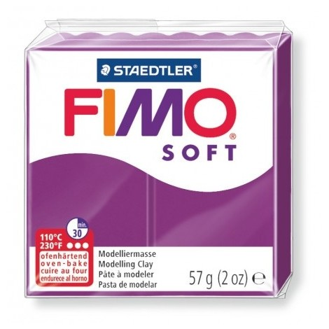 FIMO SOFT - oven-safe clay, 57g - purple