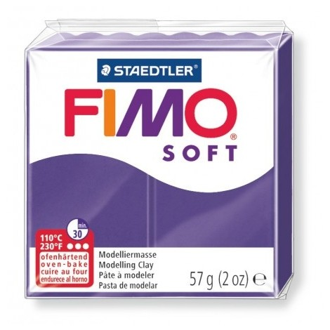 FIMO SOFT - süthető gyurma, 57g - szilva