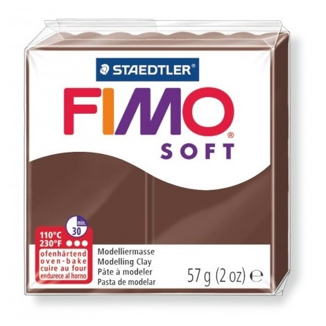 FIMO SOFT - oven-safe clay, 57g - chocolate