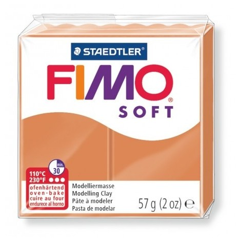 FIMO SOFT - oven-safe clay, 57g - cognac