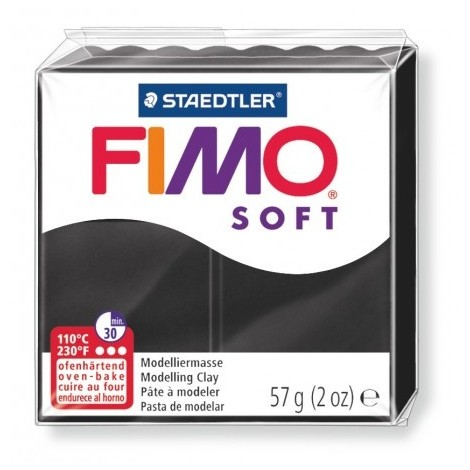 FIMO SOFT - oven-safe clay, 57g - black
