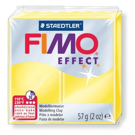 FIMO EFFECT - oven-safe clay, 57g - translucent colour yellow