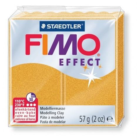 FIMO EFFECT - süthető gyurma, 57g - metál arany