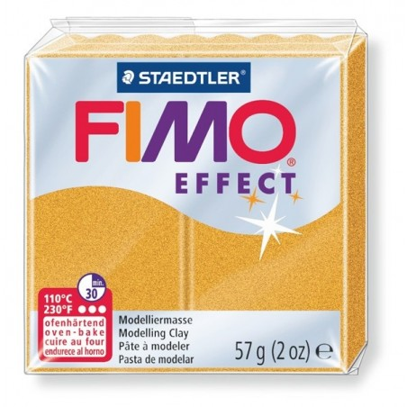 FIMO EFFECT - oven-safe clay, 57g - metallic colour gold