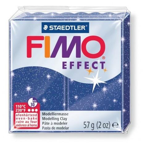 FIMO EFFECT - süthető gyurma, 57g - csillámos kék