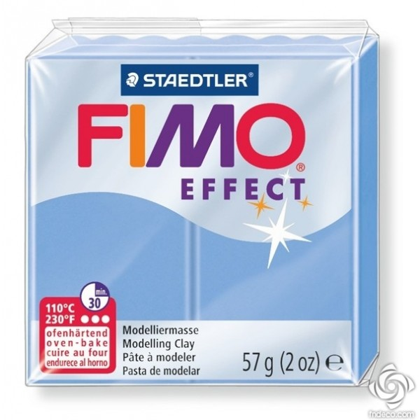 FIMO EFFECT - oven-safe clay, 57g - gemstone colour agate blue
