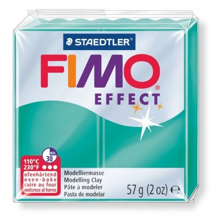 FIMO EFFECT - oven-safe clay, 57g - translucent colour green