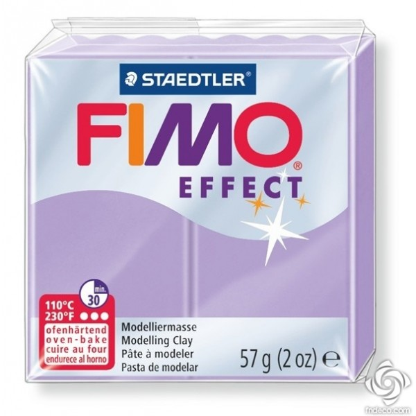 FIMO EFFECT - oven-safe clay, 57g - pastel colour lilac