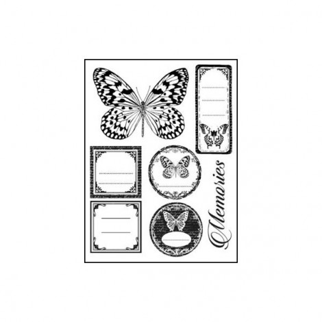 Rubber Stamp - Butterfly tags