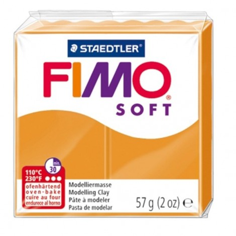 FIMO SOFT - süthető gyurma, 57g - napfény narancs