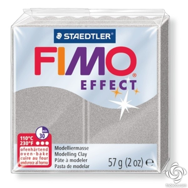 FIMO EFFECT - oven-safe clay, 57g - light silver