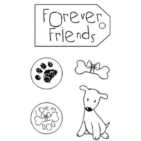 Rubber Stamp - Forever friends