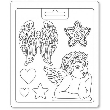 Öntőforma - 13x18cm - Angel & Wings