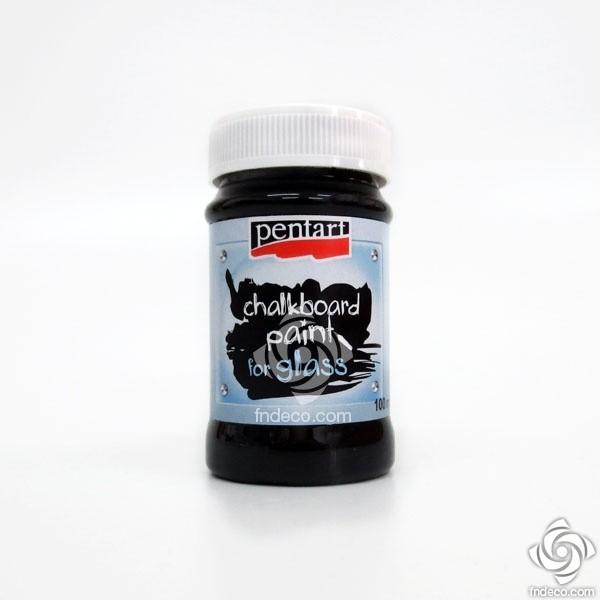 Chalkboard Paint for Glass - black - 100 ml