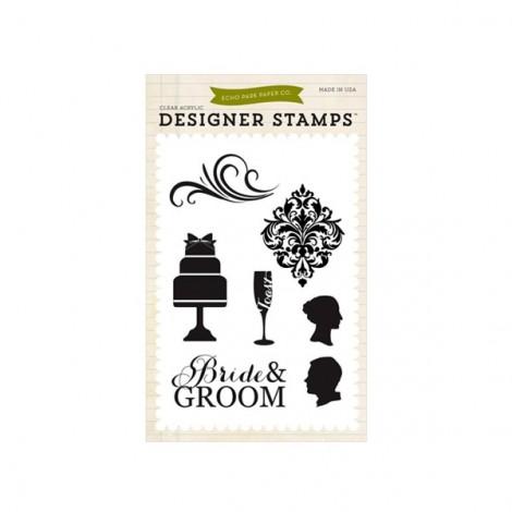 Echo Park Clear stamp - Bride&Groom