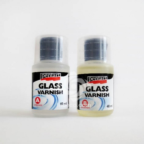 Kétkomponensű üveglakk, színtelen, 40 ml