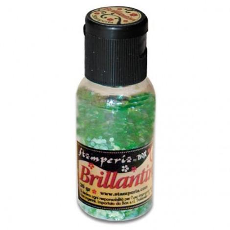 Glitter 20g, emerald green, coarse grained